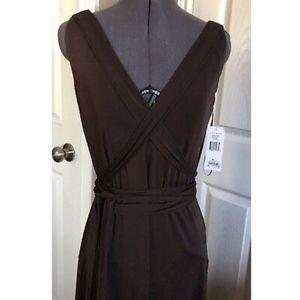 NWT Lauren Ralph Lauren Brown Wrap Dress - M